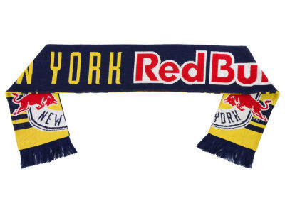 New York Red Bulls adidas Logo Jacquard Scarf