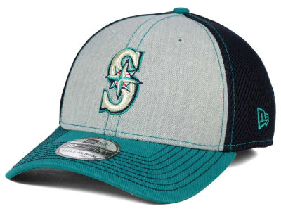 Seattle Mariners New Era MLB Heathered Neo 39THIRTY Cap