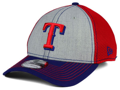 Texas Rangers New Era MLB Heathered Neo 39THIRTY Cap