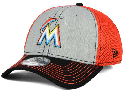 Miami Marlins New Era MLB Heathered Neo 39THIRTY Cap