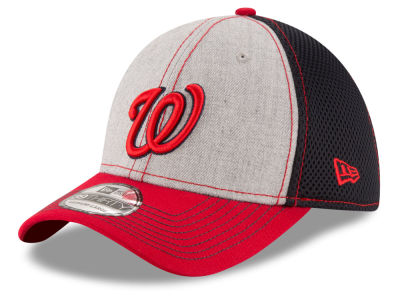 Washington Nationals New Era MLB Heathered Neo 39THIRTY Cap