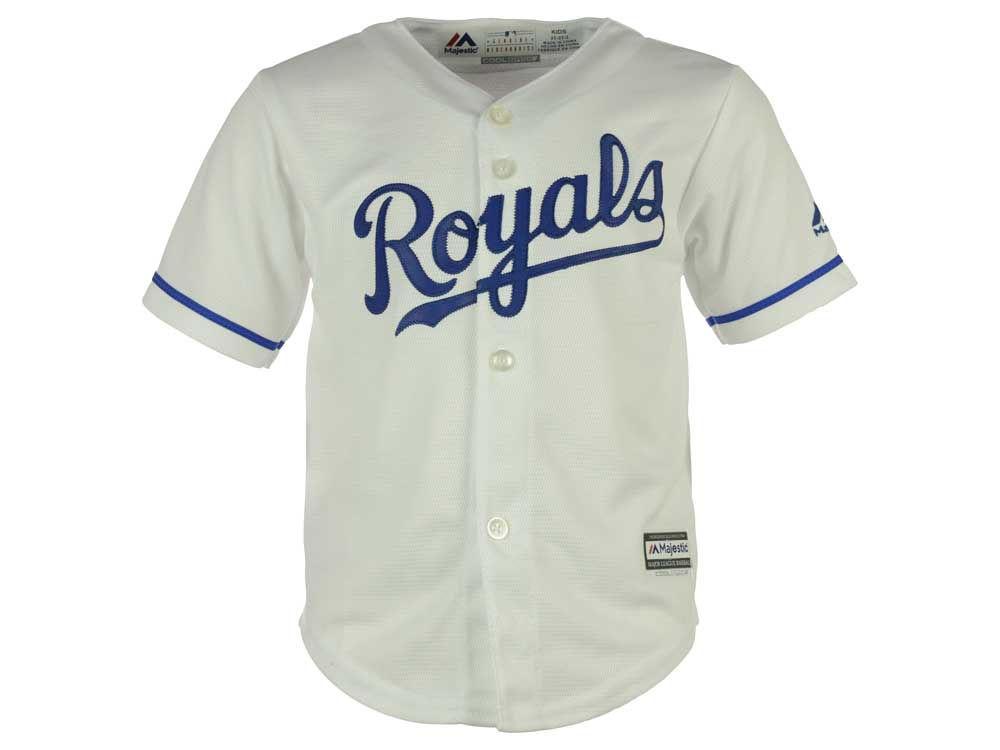 kansas city royals majestic mlb kids blank replica cool base jersey