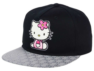 Hello Kitty Gray Visor Snapback Cap