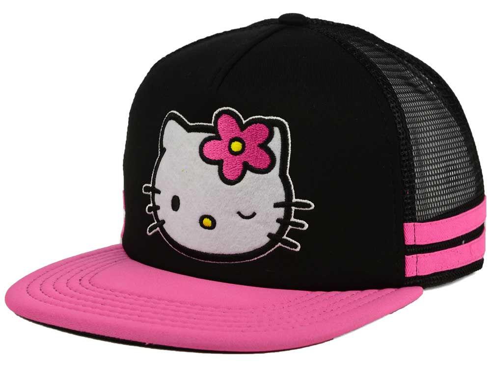 Hello Kitty Face Snapback Cap  b878b83e424b