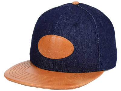 DC Comics Chambray Leather Strapback Hat