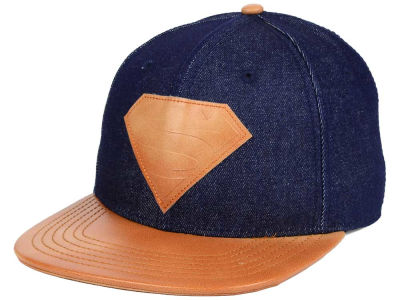 Superman DC Comics Chambray Leather Strapback Hat