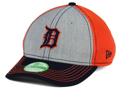 Detroit Tigers New Era MLB Youth Heathered Neo 39THIRTY Cap