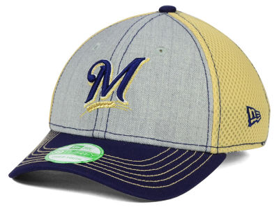 Milwaukee Brewers New Era MLB Youth Heathered Neo 39THIRTY Cap