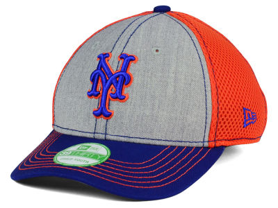 New York Mets New Era MLB Youth Heathered Neo 39THIRTY Cap
