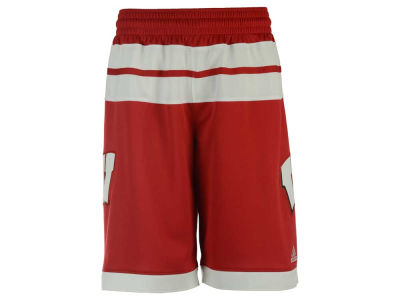 Wisconsin Badgers adidas NCAA Men's 2016 March Madness Replica Road Shorts