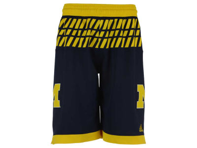 Michigan Wolverines adidas NCAA Men's 2016 March Madness Replica Road Shorts