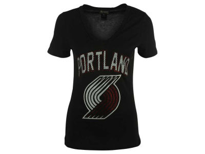 Portland Trail Blazers Billionaire Gang NBA Women's Brocade Foil T-Shirt
