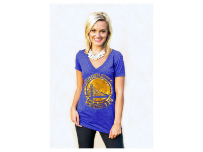 Golden State Warriors Billionaire Gang NBA Women's Sequin Shine T-Shirt