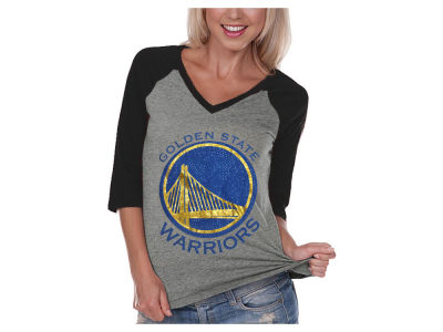 Golden State Warriors Billionaire Gang NBA Women's Bling Rhinestone Raglan T-Shirt