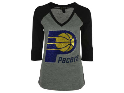 Indiana Pacers Billionaire Gang NBA Women's Bling Rhinestone Raglan T-Shirt
