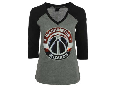 Washington Wizards NBA Women's Bling Rhinestone Raglan T-Shirt
