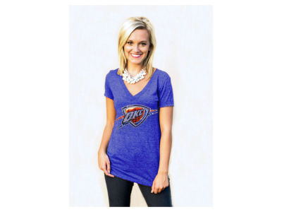 Oklahoma City Thunder NBA Women's Sequin Shine T-Shirt