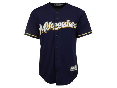 Milwaukee Brewers Majestic MLB Men's Blank Replica Cool Base Jersey