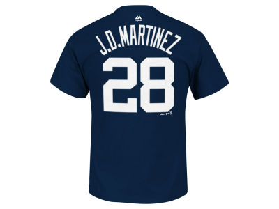 Detroit Tigers J. D. Martinez Majestic MLB Men's Official Player T-Shirt