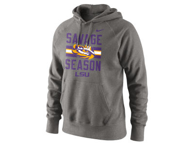 LSU Tigers Nike NCAA Men's Savage Season Cotton Hoodie