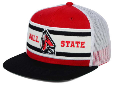 Ball State Cardinals Top of the World NCAA Superstripe Snapback Cap