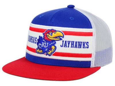 Kansas Jayhawks Top of the World NCAA Superstripe Snapback Cap