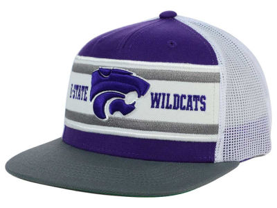Kansas State Wildcats Top of the World NCAA Superstripe Snapback Cap