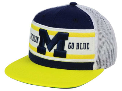 Michigan Wolverines Top of the World NCAA Superstripe Snapback Cap