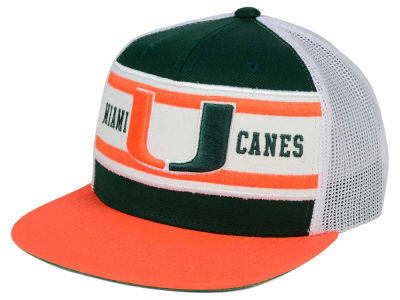 Miami Hurricanes Top of the World NCAA Superstripe Snapback Cap