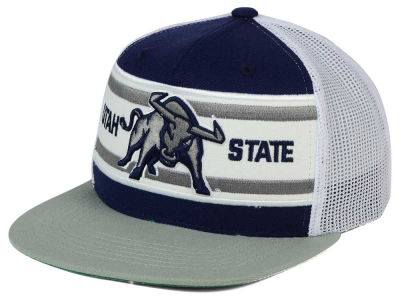 Utah State Aggies Top of the World NCAA Superstripe Snapback Cap