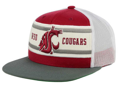Washington State Cougars Top of the World NCAA Superstripe Snapback Cap