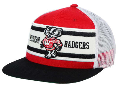 Wisconsin Badgers Top of the World NCAA Superstripe Snapback Cap
