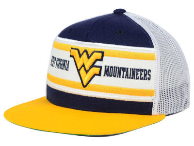 West Virginia Mountaineers Top of the World NCAA Superstripe Snapback Cap