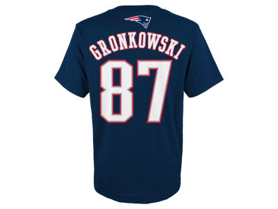New England Patriots Rob Gronkowski NFL Kids Mainliner Player T-Shirt
