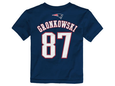 New England Patriots Rob Gronkowski NFL Toddler Mainliner Player T-Shirt