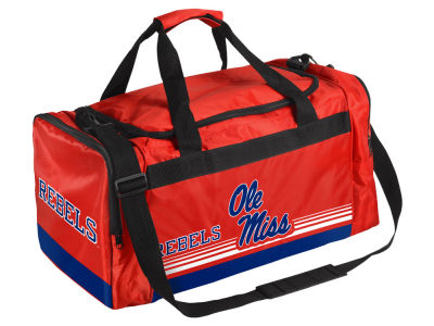 Ole Miss Rebels Striped Core Duffle Bag