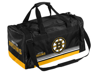 Boston Bruins Striped Core Duffle Bag