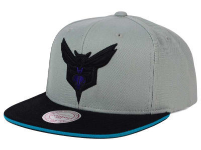 Charlotte Hornets Mitchell and Ness NBA XL Grayout Snapback Cap