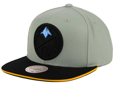 Denver Nuggets Mitchell and Ness NBA XL Grayout Snapback Cap