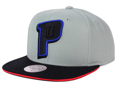 Detroit Pistons Mitchell and Ness NBA XL Grayout Snapback Cap