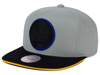 Golden State Warriors Mitchell & Ness NBA XL Grayout Snapback Cap