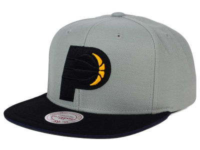 Indiana Pacers Mitchell and Ness NBA XL Grayout Snapback Cap