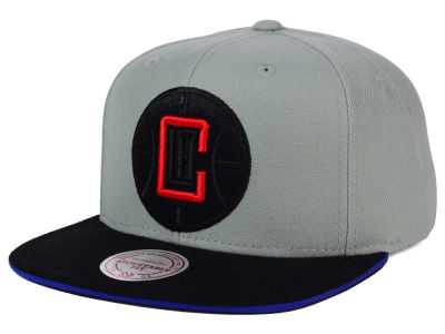 Los Angeles Clippers Mitchell and Ness NBA XL Grayout Snapback Cap