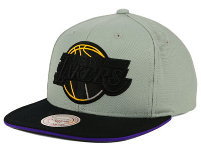 Los Angeles Lakers Mitchell and Ness NBA XL Grayout Snapback Cap