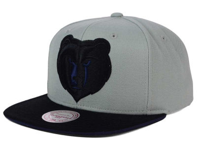 Memphis Grizzlies Mitchell and Ness NBA XL Grayout Snapback Cap