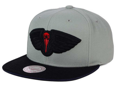 New Orleans Pelicans Mitchell and Ness NBA XL Grayout Snapback Cap