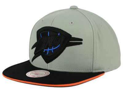 Oklahoma City Thunder Mitchell & Ness NBA XL Grayout Snapback Cap