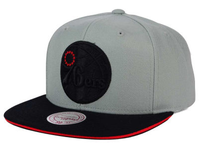 Philadelphia 76ers Mitchell and Ness NBA XL Grayout Snapback Cap