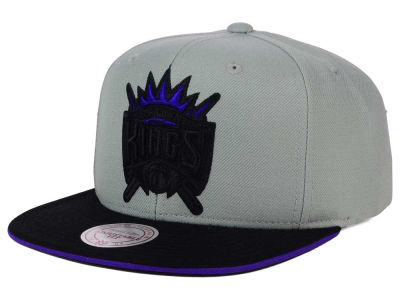 Sacramento Kings Mitchell and Ness NBA XL Grayout Snapback Cap