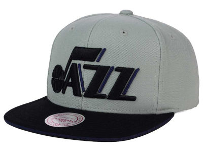 Utah Jazz Mitchell and Ness NBA XL Grayout Snapback Cap